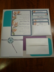 Wedding invitation with string closure