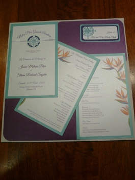 Wedding program in english and french.